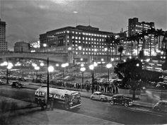 Vale do Anhangabaú. São Paulo, 1955. Foto: Chico Albuquerque