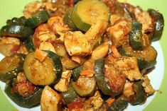 Tagine chicken with zucchini - Poulet aux olives - Hühnerrezepte Diner Recipes, Lunch Recipes, Meat Recipes, Mexican Food Recipes, Chicken Recipes, Cooking Recipes, Ethnic Recipes, African Recipes, Authentic Mexican Recipes