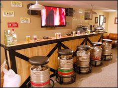 images of theme decorated basements | man cave decorating ideas - man cave decorating pictures - man cave ...