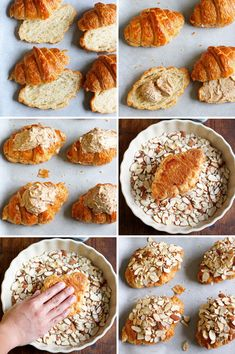 There is no such thing as too many croissants. But if that does happen, add almond cream and turn them into something even more amazing, Almond Croissant! Sicilian Recipes, Pastry Recipes, Cookie Recipes, Dessert Recipes, Sicilian Food, Vegan Recipes, Strudel, Crossant Recipes, Almond Pancakes
