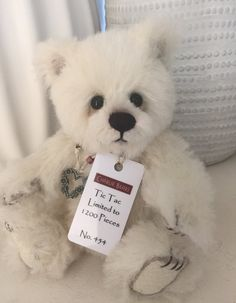 Tic Tac Minimo Mohair Teddy Bear no 612 Polar Cub, Polar Bear, Boyds Bears, Teddy Bears, Charlie Bears, Bear Toy, Tic Tac, Plush Animals, Cubs