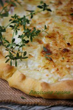 #torta porri, patate e prosciutto#
