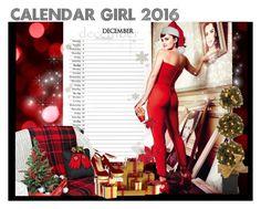 """DECEMBER CALENDAR GIRL"" by melange-art ❤ liked on Polyvore featuring melangeart"