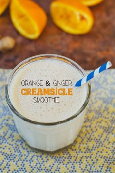 Orange & Ginger Creamsicle Smoothie made with 0% Plain Chobani