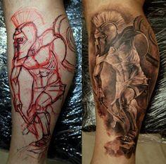 From sketch to master piece. Tattoo by  Dmitriy Samohin