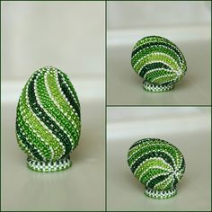 other ideas for beaded eggs Beaded Christmas Decorations, Christmas Ornaments To Make, Egg Crafts, Easter Crafts, Quilling Patterns, Beading Patterns, Easter Flower Arrangements, Sequin Ornaments, Seed Bead Crafts