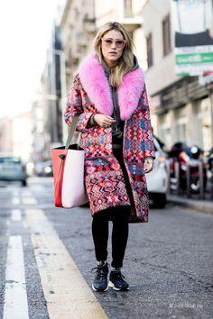 Уличная мода: Неделя моды в Милане осень-зима 2017-2018: уличный стиль