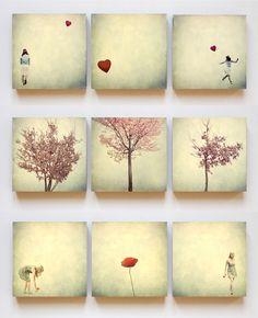 Fotos auf Holz 9er Package von fotomädchen auf DaWanda.com