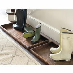Entryway Boot Trays - Mudroom Boot Tray - English Boot Tray - Metal Boot Tray ballard AM814 $35 Fleur de Lis