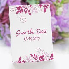 Save the Date Karte Hochzeit Ranken: https://www.meine-hochzeitsdeko.de/save-the-date-karte-hochzeit-ranken