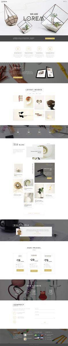 Lorem - Creative Art and Business Wordpress Theme on Behance