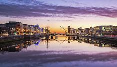 Early morning view towards the Dublin Docklands reflected in the River Liffey. Morning View, Early Morning, Popular Photography, Grand Canal, Dublin, Beverly Hills, Fine Art America, Dawn, Instagram Images