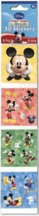 Disney's Mickey Mouse Clubhouse Sticker Squares 8ct (30 Stickers Total) by AMSCAN *. $2.80. 8 per package.. Kids Birthday Stickers. M-I-C-K-E-Y! Our Mickey Mouse Sticker Square pack includes 8 Mickey sticker squares. Stickers feature Mickey Mouse and friends having a blast! Use stickers for fun scrapbooking projects, to seal envelopes or to decorate invitations and thank you notes! St