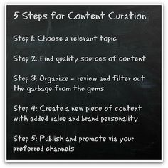5 Steps for Content Curation - simple guide to content curation