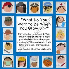 "Community helper patterns for student community helper ""self portrait"" activity Community Helpers Crafts, Community Helpers Kindergarten, Kindergarten Social Studies, School Community, Classroom Community, Teaching Social Studies, Journeys Kindergarten, Preschool Themes, Preschool Lessons"