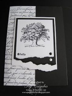 www.pegcraftalot....    Stamps Used  Lovely as a Tree  En Francais big background stamp  Tiny