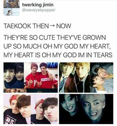 Evolution of Taekook / Vkook Vkook Memes, Bts Memes, Kookie Bts, Bts Bangtan Boy, Taekook, About Bts, My Escape, I Love Bts, Bulletproof Boy Scouts