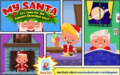 """Looking for a fun holiday themed game for the kids to play? Then check out """"My Santa"""" By Crazy Labs, where you can take care of Santa and he. Holiday Games, Holiday Fun, Christmas Apps, Game App, Enjoy It, It's Easy, Happy Holidays, Your Child, Growing Up"""