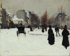 'The Boulevard de Clichy under Snow', Norbert Goeneutte