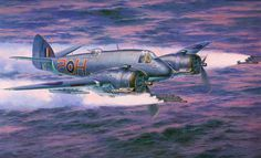 BRISTOL BEAUFIGHTER Mk10 TORPEDO-FIGHTER    Illustrated by Shigeo Koike , イラスト:小池繁夫氏