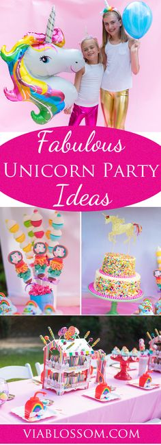 Fabulous Unicorn Party party Ideas for an amazing girl birthday party! All the cutest Unicorn Party Supplies in one place!