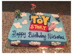 Toy Story Birthday Cake, Woody Birthday, Birthday Sheet Cakes, 4th Birthday Cakes, 1st Boy Birthday, Boy Birthday Parties, Birthday Ideas, Toy Story Theme, Toy Story Party