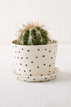 BTW Ceramics Mini Black Planter
