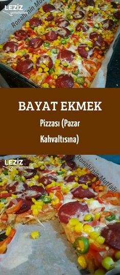 Stale Bread Pizza (For Sunday Breakfast) - My Delicious Food - Bread Recipes Breakfast Recipes, Breakfast Casserole, Dessert Recipes, Breakfast Pizza, Easy Homemade Pizza, Best Bread Recipe, Stale Bread, Sunday Breakfast, Cookery Books