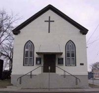 """British Methodist Episcopal Church, Salem Chapel in St. Catharines, Ontario, Canada. Harriet Tubman's place of worship. When Harriet arrived in St. Catharines, the chuch was known as """"Bethel Chapel"""" AME."""
