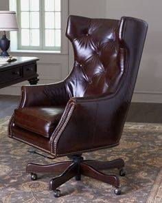 Landon Leather Office Chair on Horchow