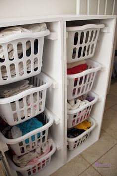 BeingBrook: Laundry room makeover with Ana White Brook laundry dressers