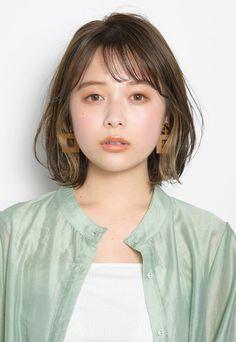 Japanese Short Hair, Korean Short Hair, Japanese Hairstyle, One Length Haircuts, Korean Hair Color, Shot Hair Styles, Hair Arrange, Aesthetic Hair, Girl Short Hair