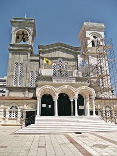 Agios Fotios Church. Under construction. (Walking Thessaloniki - Route 17, Depot)