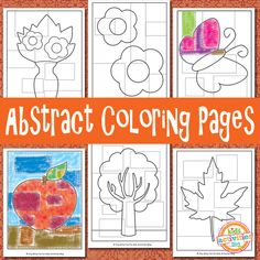 Think outside the box with these fun Abstract Coloring Pages