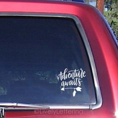 Adventure Awaits car decal Truck decals Boho by LivelyLettering