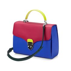 The être cécile Mayfair Bag in Cobalt Blue & Deep Fuchsia from Aspinal of London