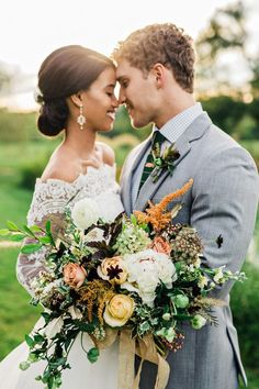 Gorgeous interracial couple at their fall wedding celebration couple party Glam fall wedding inspiration Interacial Couples, Romantic Wedding Receptions, Romantic Weddings, Wedding Ceremonies, Country Weddings, Vintage Weddings, Wedding Vintage, Lace Weddings, Interracial Wedding