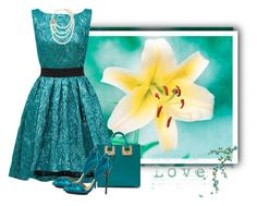 """""""Teal"""" by barbarapoole ❤ liked on Polyvore featuring Christian Pellizzari, Sophie Hulme and L.A.M.B."""