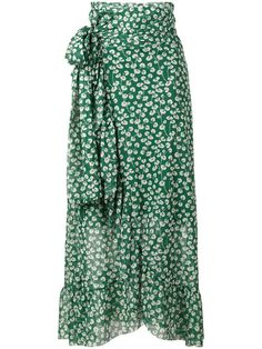GANNI Capella Mesh Floral Print Skirt. #ganni #cloth #skirt