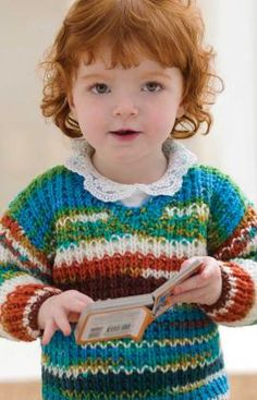 Baby Sweater Free Knitting Pattern from Red Heart Yarns