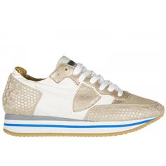 Scarpe sneakers donna in pelle tropez higer honey 3cm sole