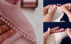 Pink Love, sehr beliebte Pearl Beaded Crochet Needlework Model Lecture - My CMS Diy Crafts Crochet, Pink Love, Bead Crochet, Pearl Beads, Blue Flowers, Needlework, Embellishments, Crochet Patterns, Pearls