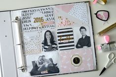 Project Life title page 2016 | Pink and Paper