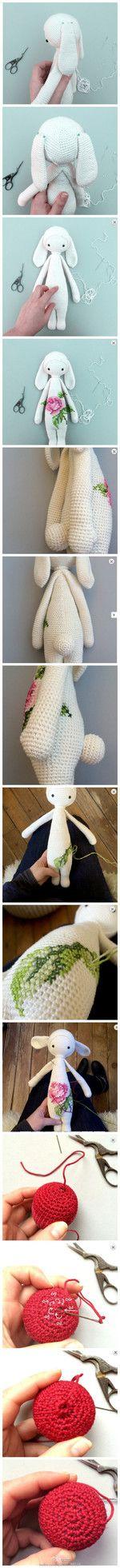 堆糖-美好生活研究所 Lalaloopsy, Crochet Gifts, Crochet Baby, Amigurumi Patterns, Bunny, Embroidery, Dolls, Sewing, Knitting