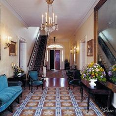 oak alley plantation center hall - Google Search