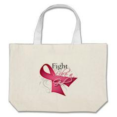 Ribbon - Fight Like a Girl - Breast Cancer Bag by www.fightlikeagirlgiftshop.com #fightlikeagirl #cancerawareness #breastcancerawareness
