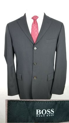 dc81096b2bac42 Hugo Boss Mens Black Wool Blazer Jacket Sport Coat Size 40R Made In USA 3  Botton #fashion #clothing #shoes #accessories #mensclothing  #suitssuitseparates ...