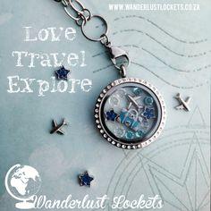 Love, travel, explore… treasure your adventures in your locket