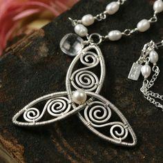 Wire Jewelry - three petal design