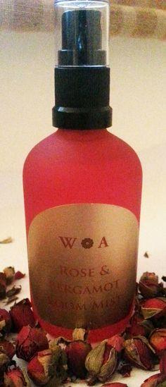 Rose & Bergamot Room Mist  aromatherapy room spray  home